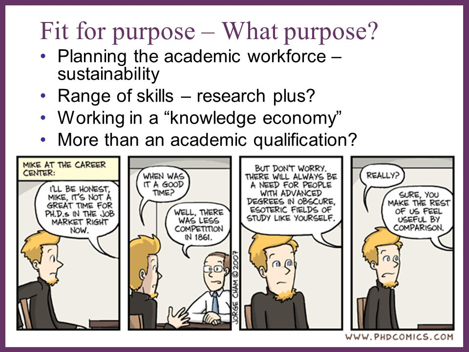 Fit for purpose – What purpose