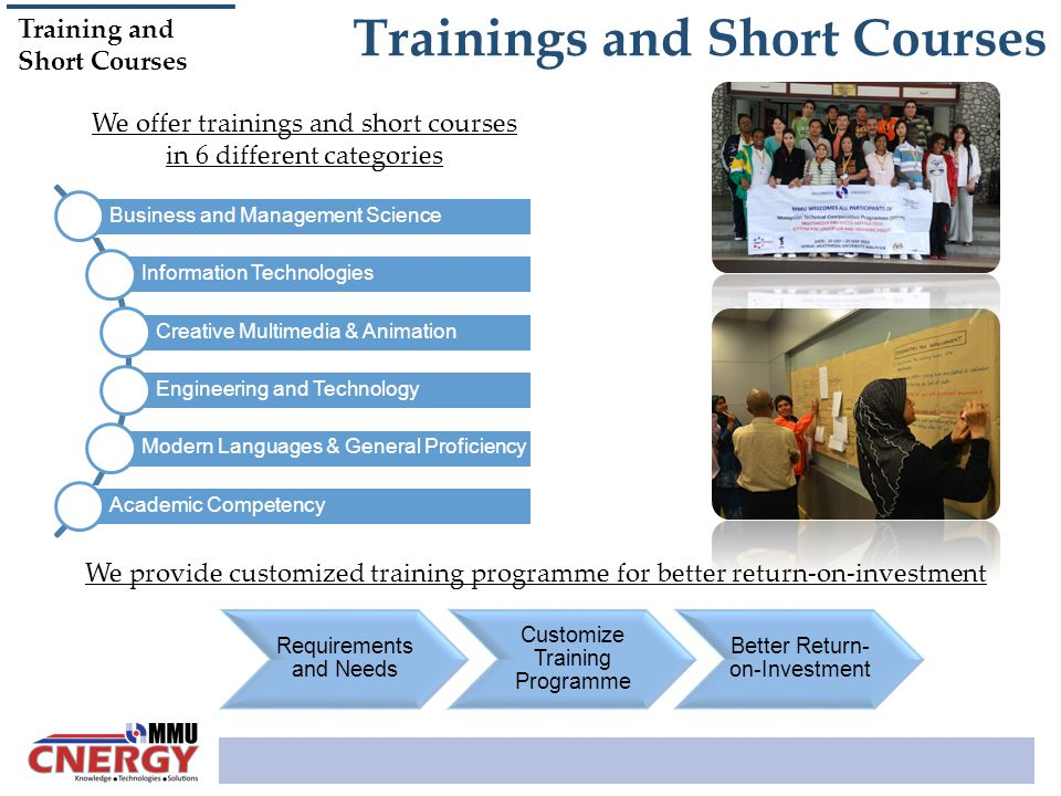 Trainings and Short Courses