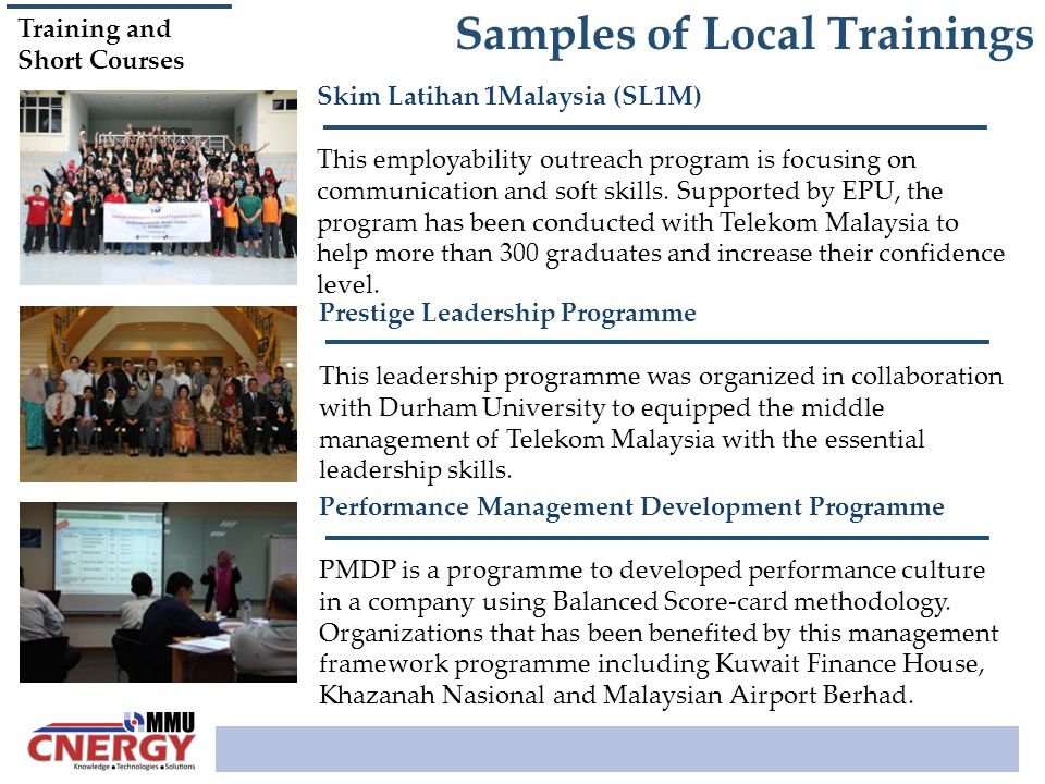 Samples of Local Trainings