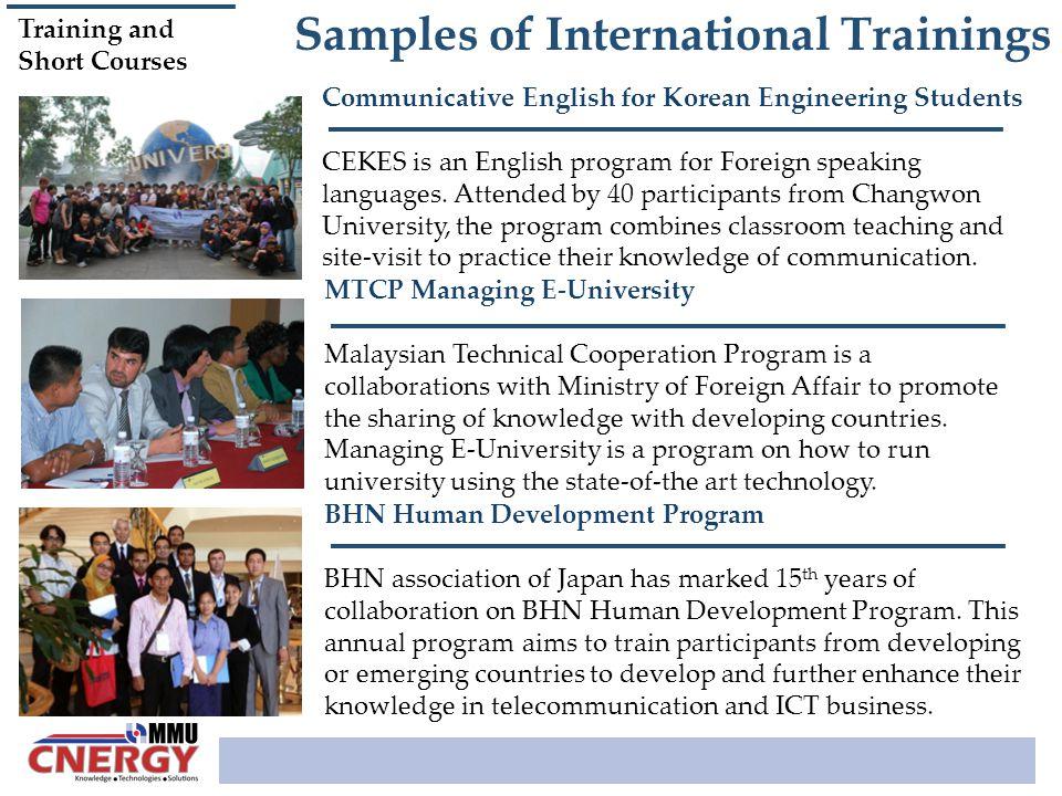 Samples of International Trainings