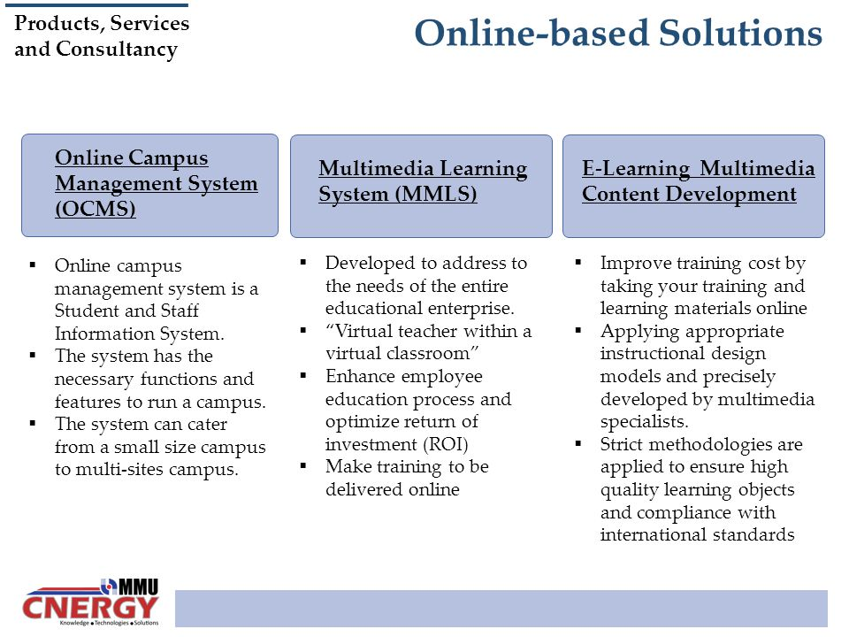Online-based Solutions