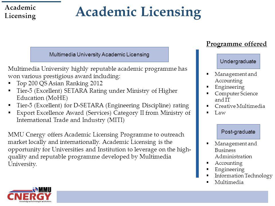 Multimedia University Academic Licensing