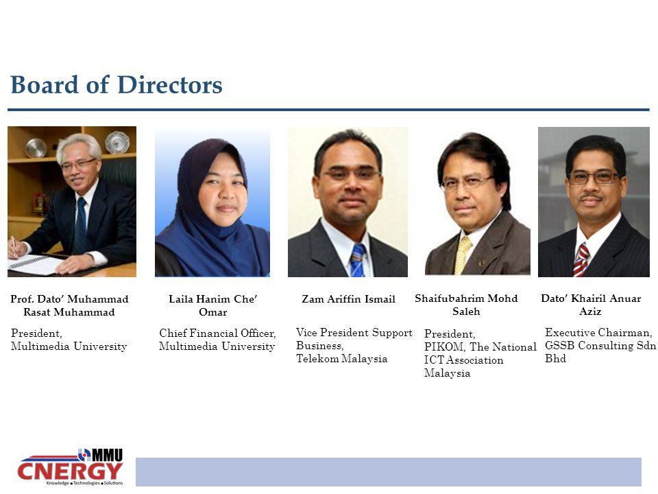 Board of Directors Prof. Dato' Muhammad Rasat Muhammad