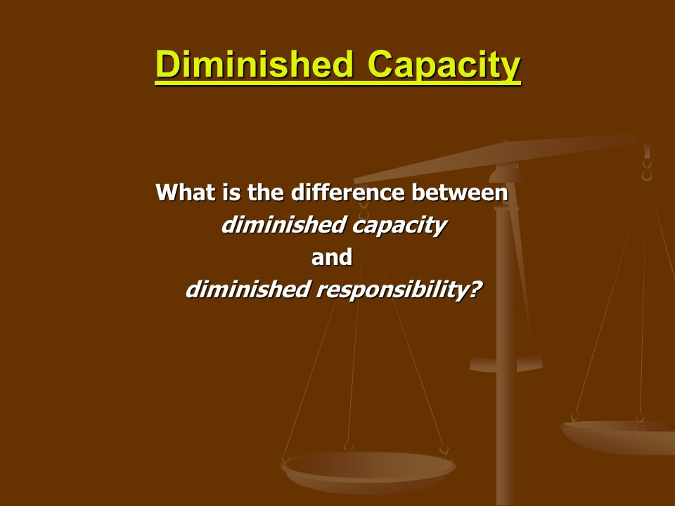What is the difference between diminished responsibility