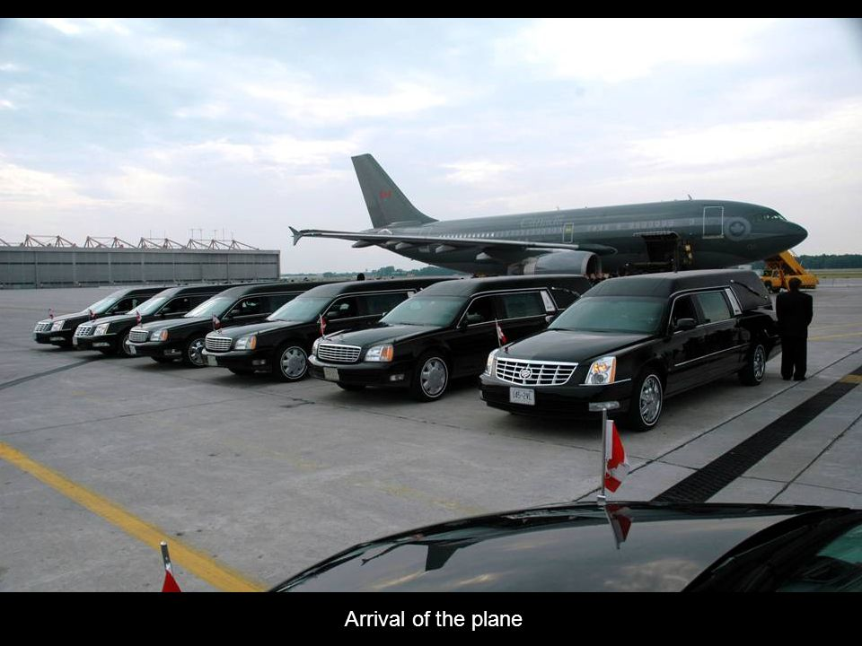 Arrival of the plane