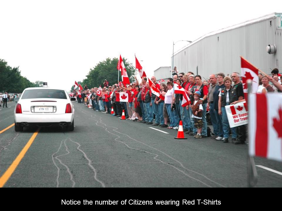 Notice the number of Citizens wearing Red T-Shirts
