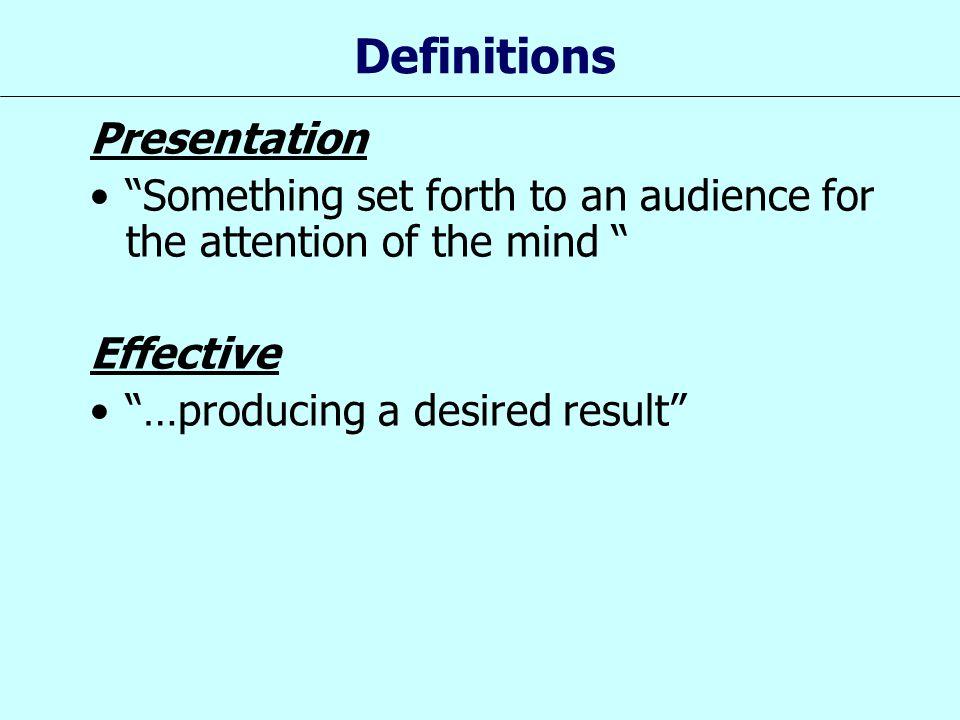 Definitions Presentation