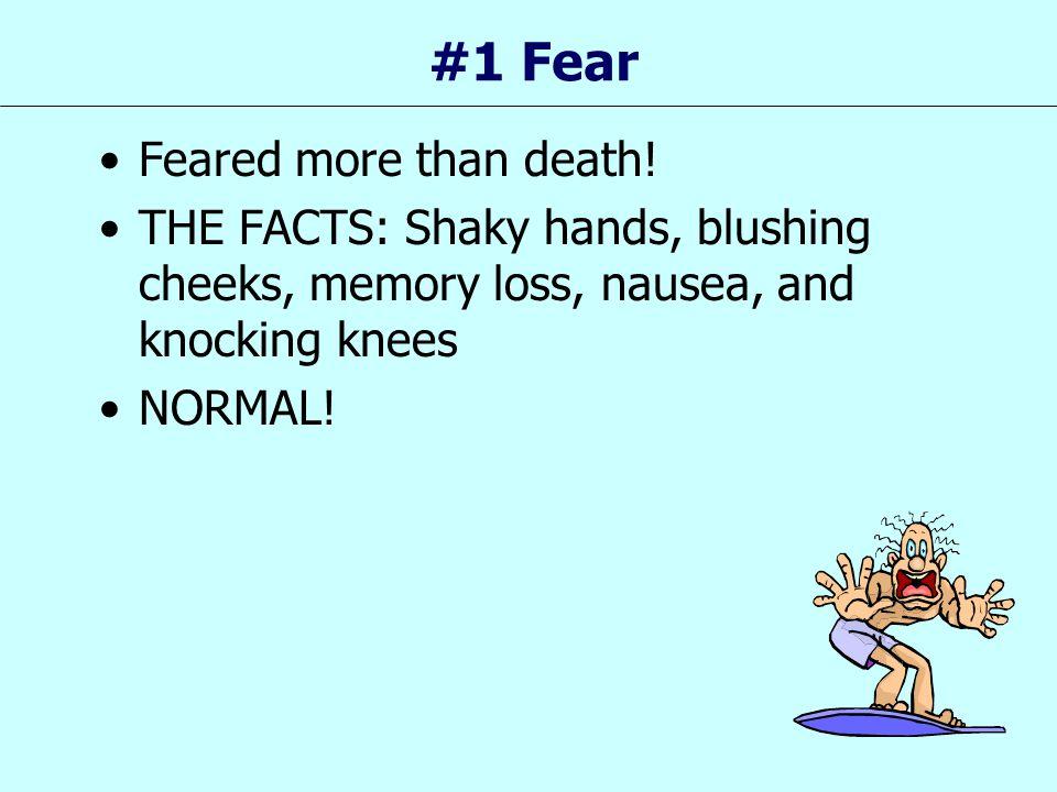 #1 Fear Feared more than death!