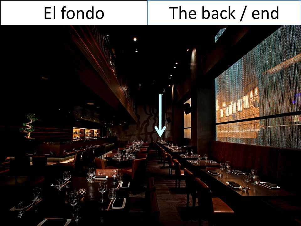 El fondo The back / end
