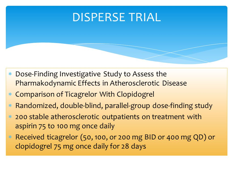 DISPERSE TRIAL Dose-Finding Investigative Study to Assess the Pharmakodynamic Effects in Atherosclerotic Disease.