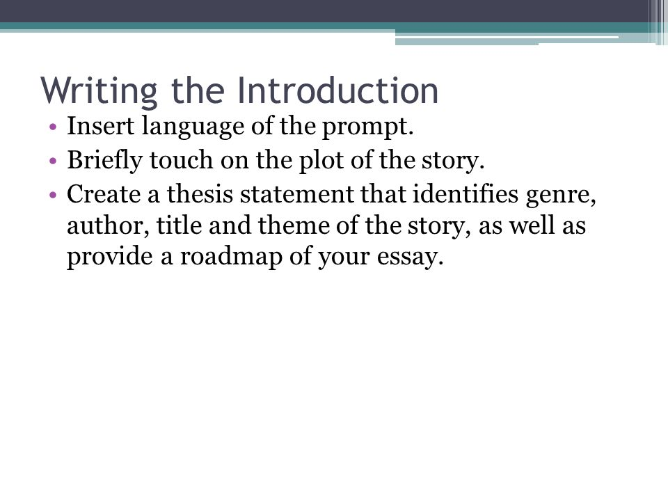 Writing the Introduction