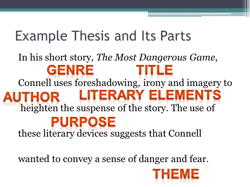 literary terms thesis How to develop a thesis statement for a literary essay.