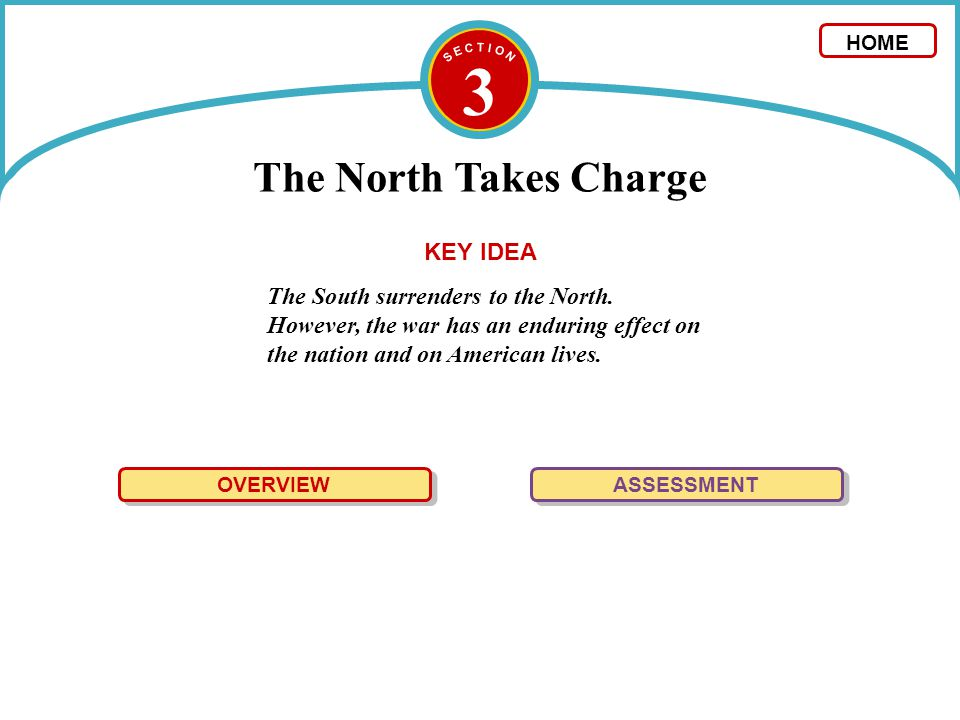 3 The North Takes Charge KEY IDEA