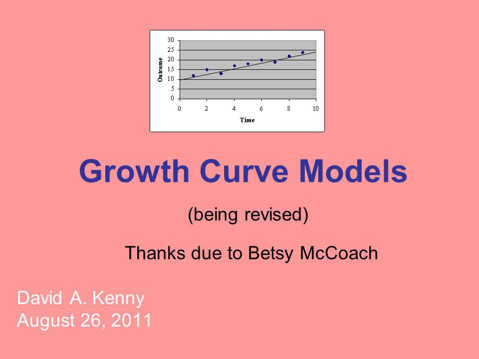 Growth Curve Models (being revised)