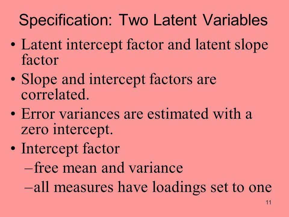 Specification: Two Latent Variables