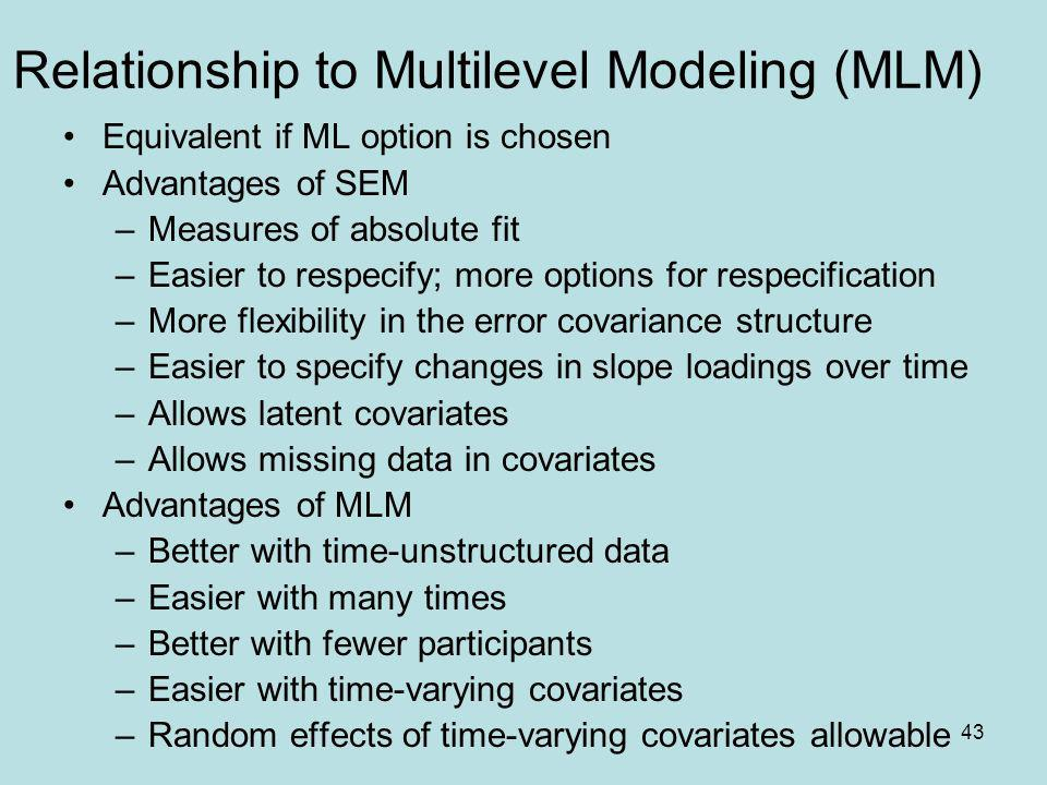 Relationship to Multilevel Modeling (MLM)