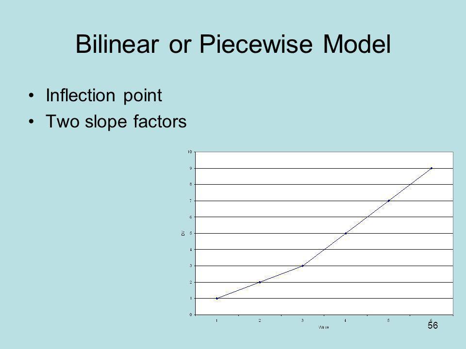 Bilinear or Piecewise Model