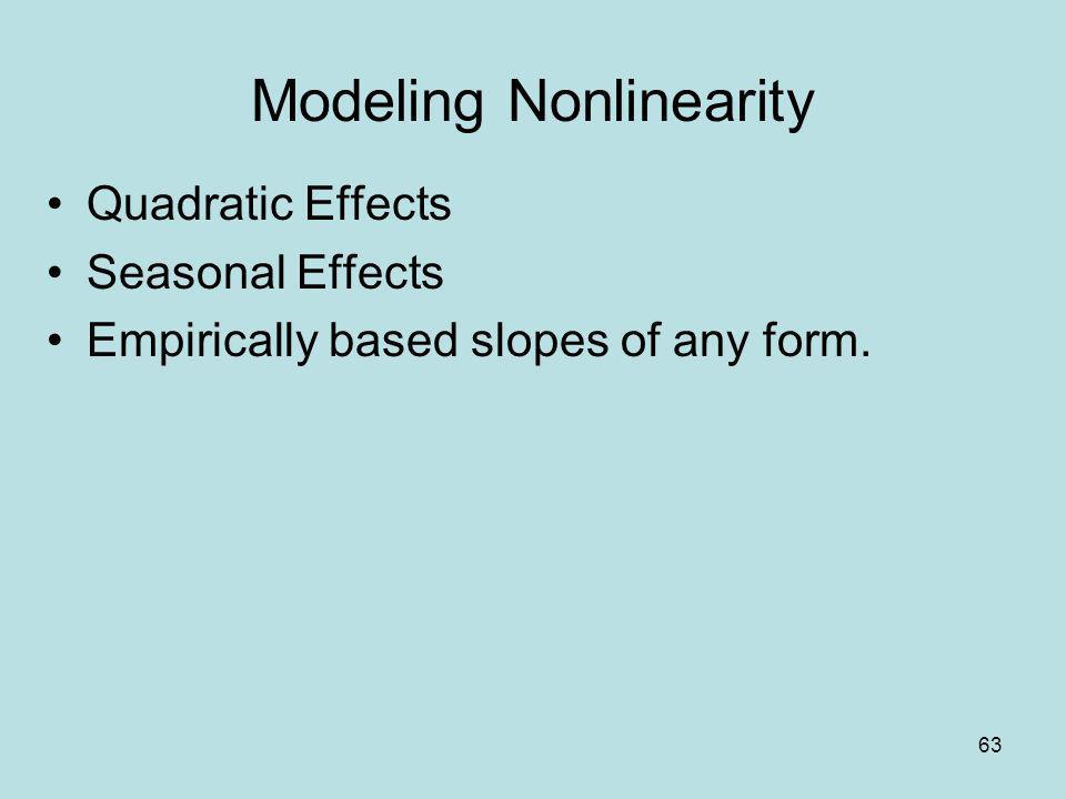 Modeling Nonlinearity