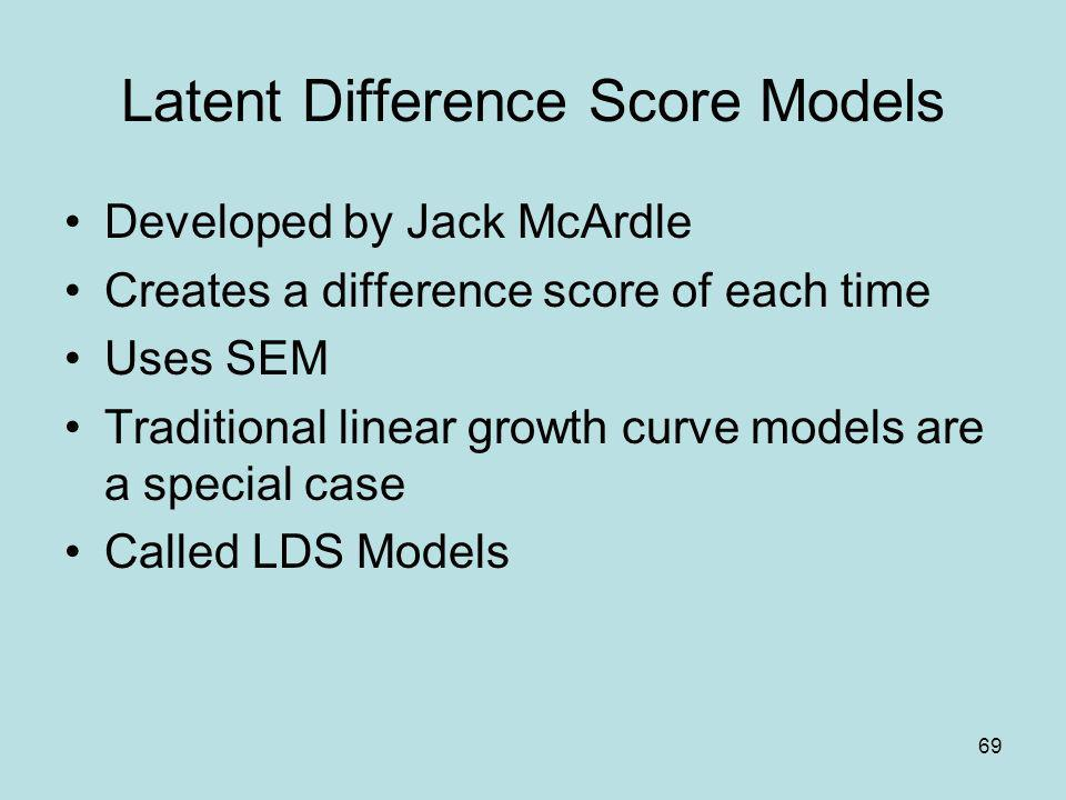 Latent Difference Score Models