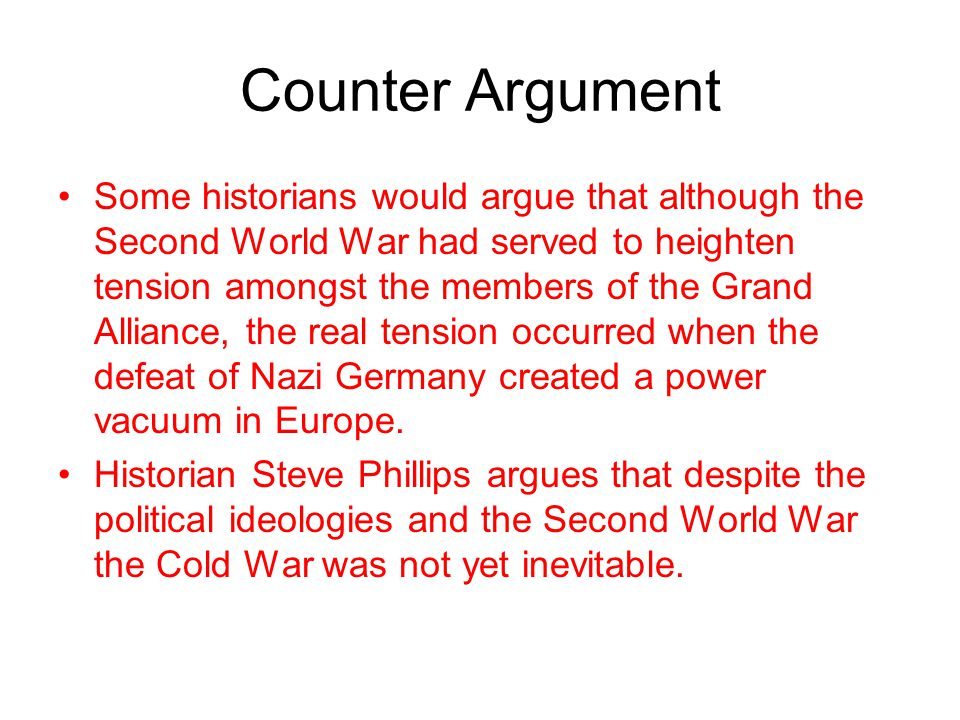 Counter Argument