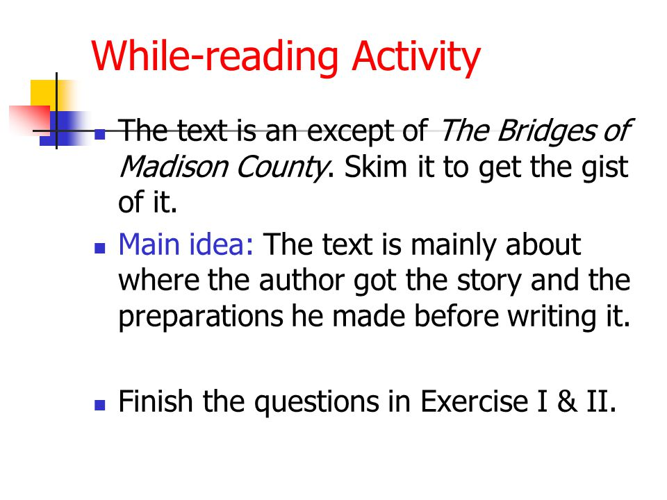 While-reading Activity