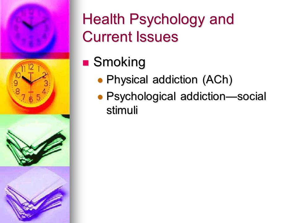 Health Psychology and Current Issues