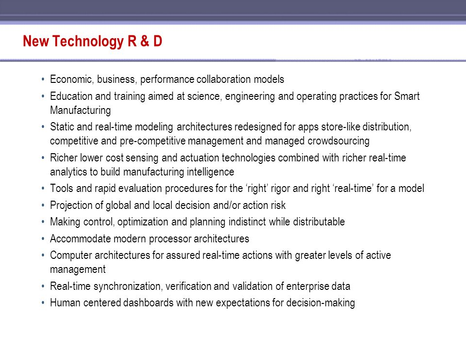 New Technology R & D Economic, business, performance collaboration models.