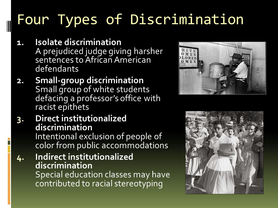 Four Types of Discrimination