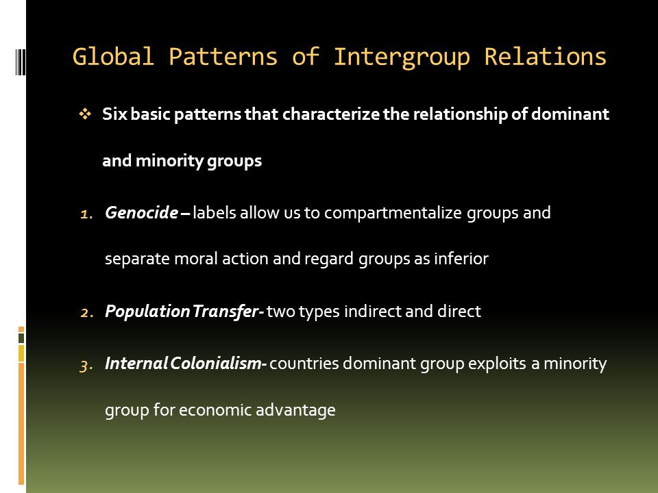 Global Patterns of Intergroup Relations