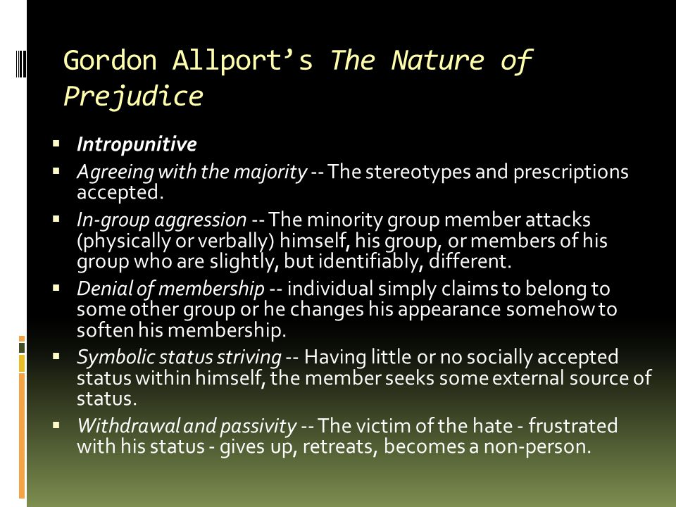 Gordon Allport's The Nature of Prejudice