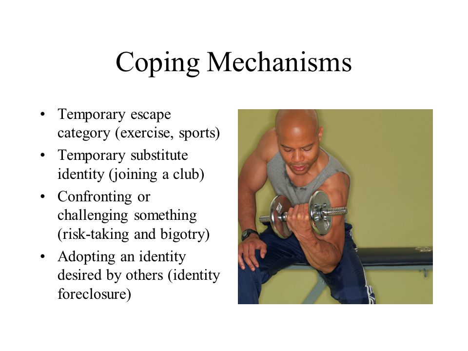Coping Mechanisms Temporary escape category (exercise, sports)
