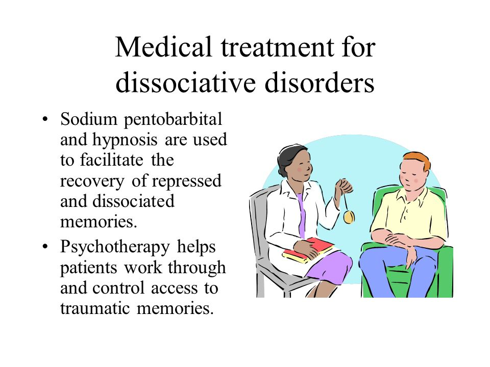 Medical treatment for dissociative disorders