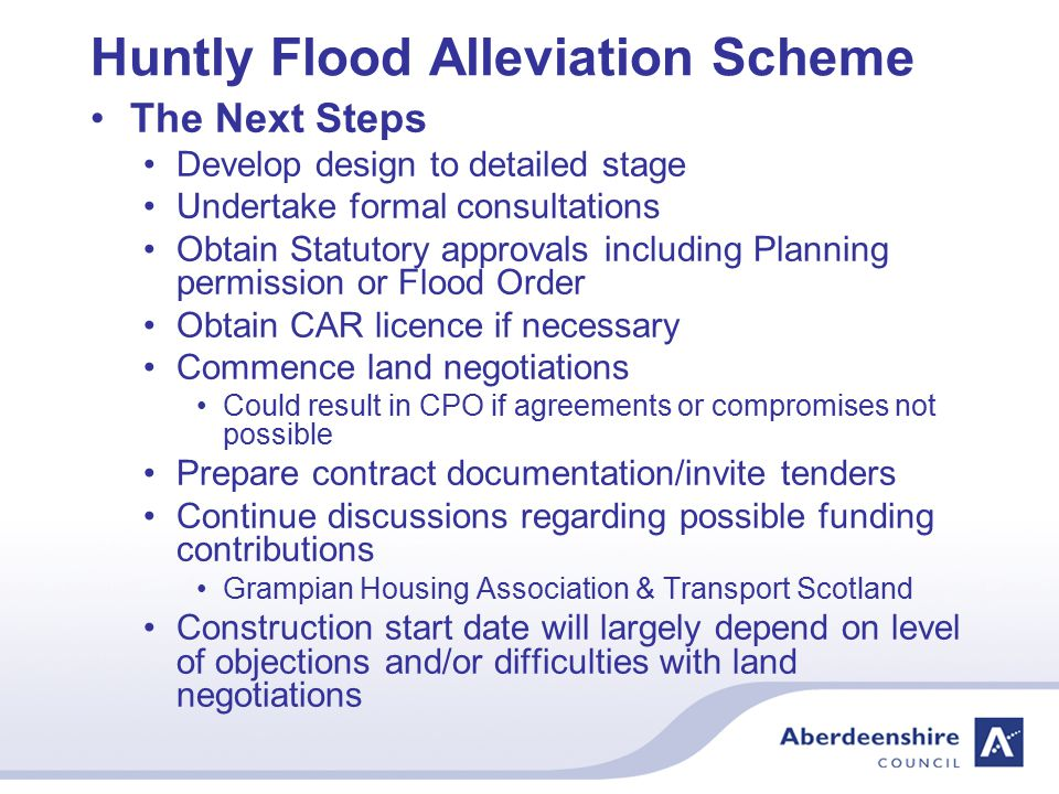 Huntly Flood Alleviation Scheme