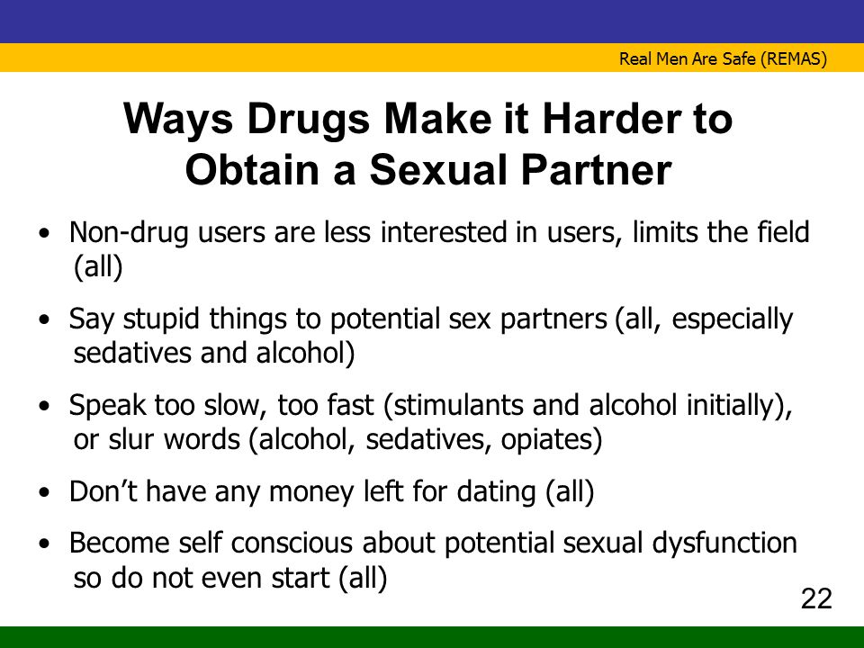 Ways Drugs Make it Harder to Obtain a Sexual Partner