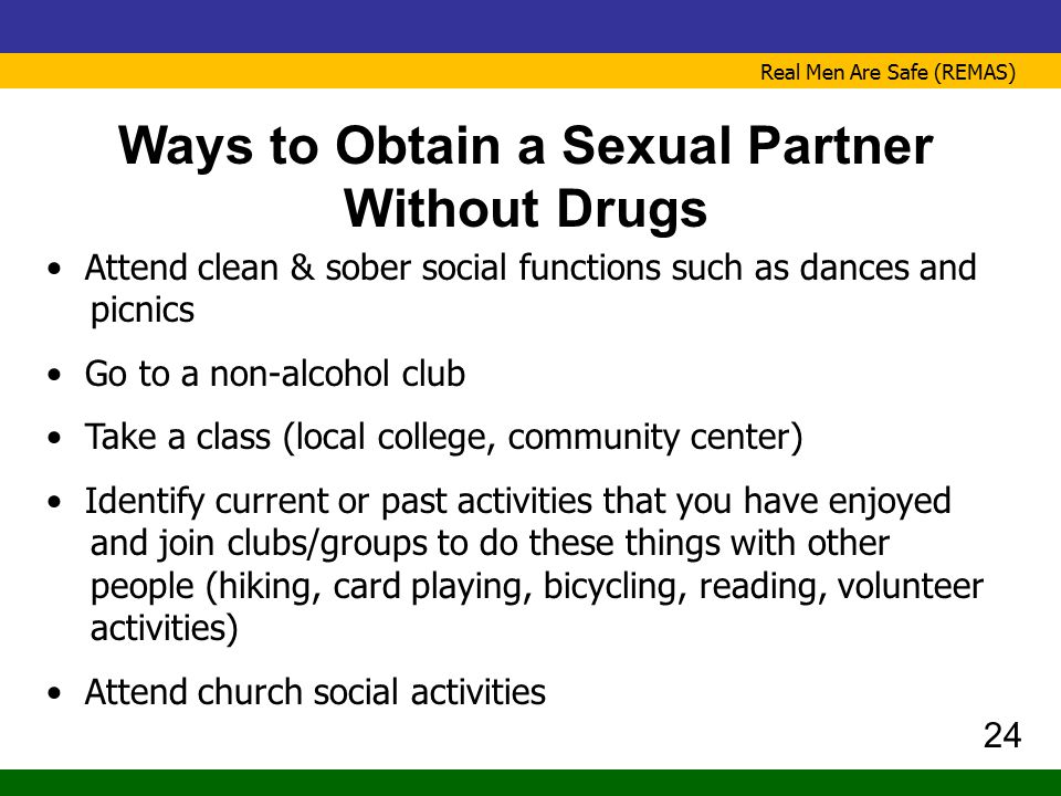 Ways to Obtain a Sexual Partner Without Drugs
