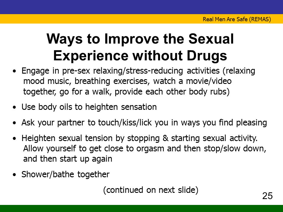 Ways to Improve the Sexual Experience without Drugs