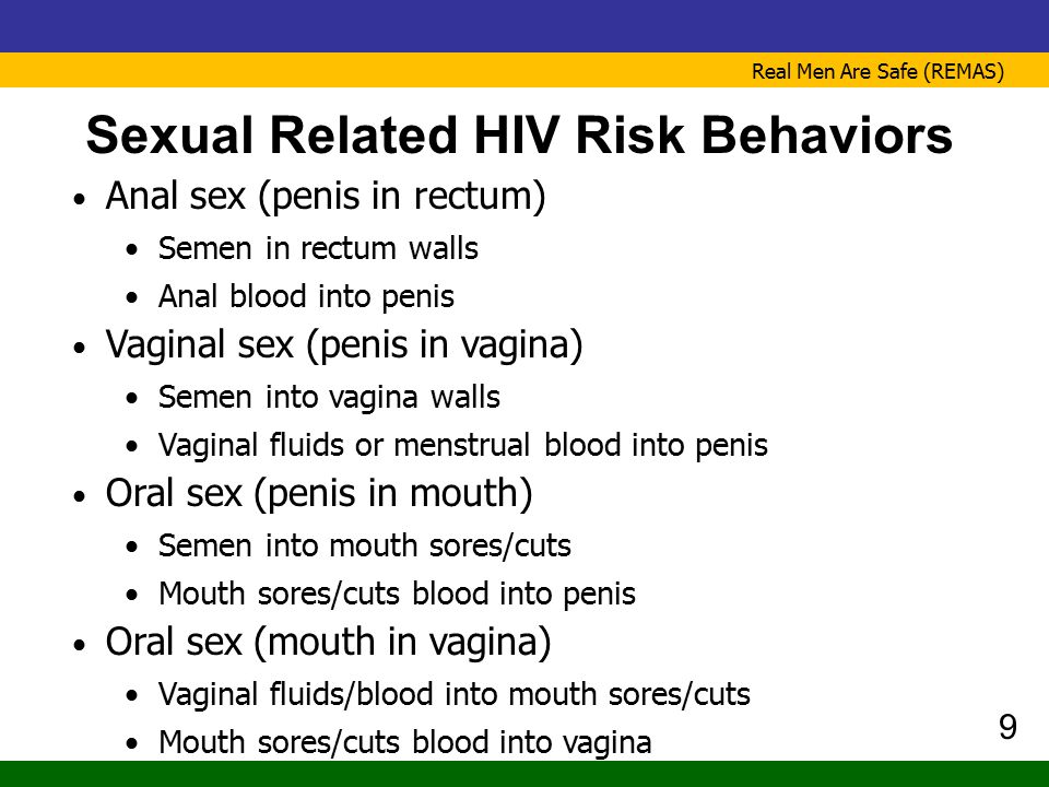 Sexual Related HIV Risk Behaviors