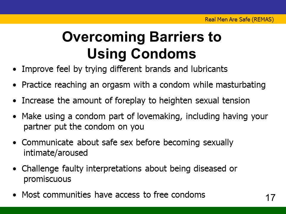 Overcoming Barriers to Using Condoms