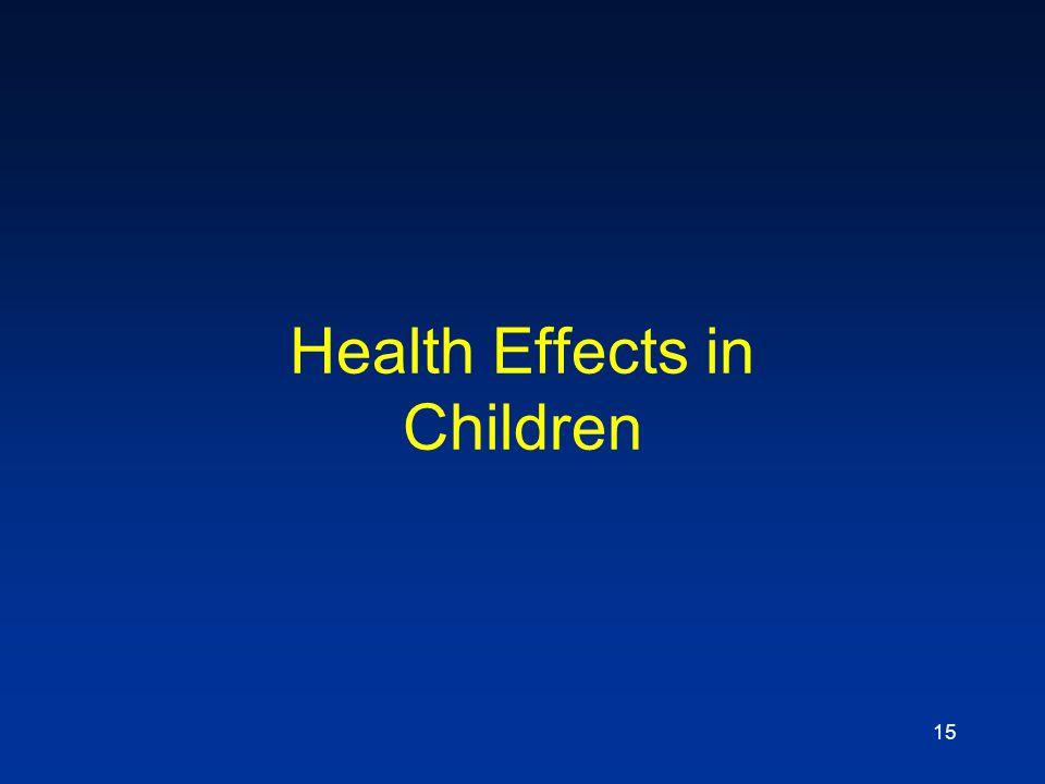 Health Effects in Children