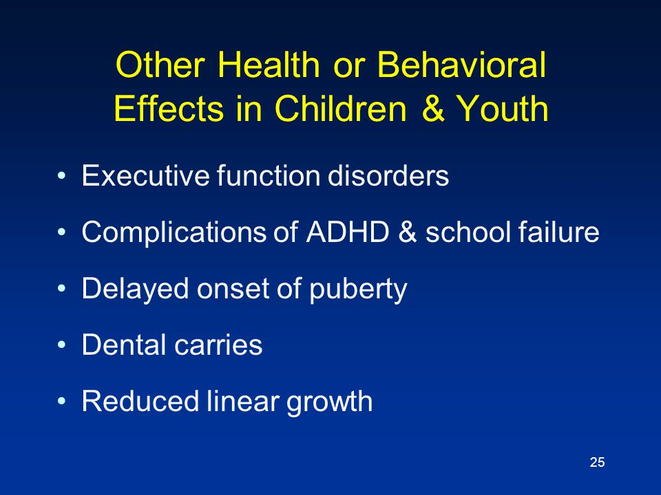 Other Health or Behavioral Effects in Children & Youth