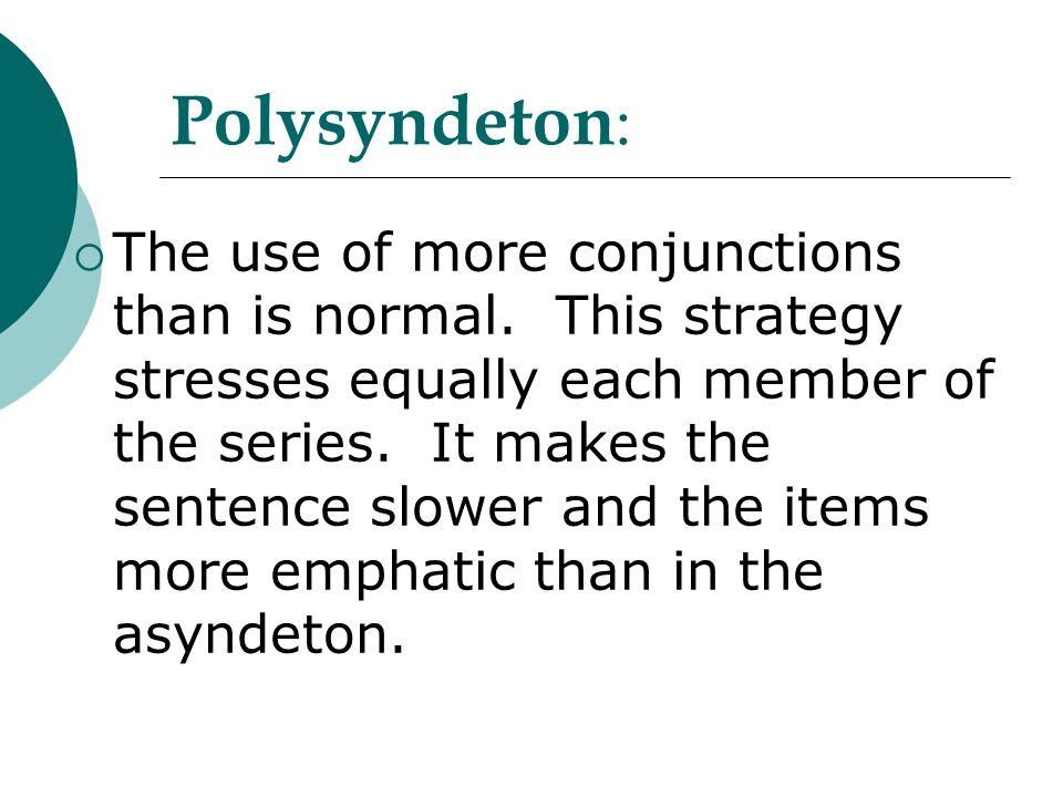 Polysyndeton: