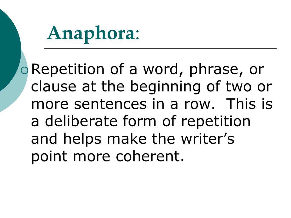 Anaphora: