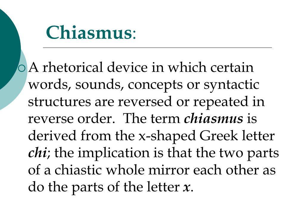 Chiasmus: