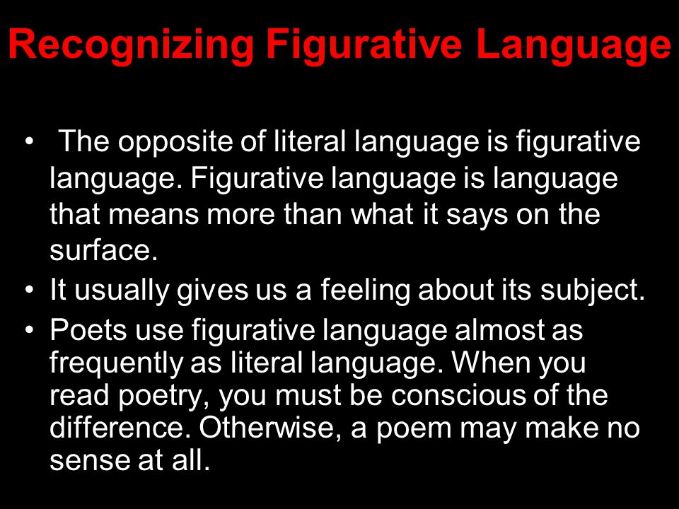 Recognizing Figurative Language