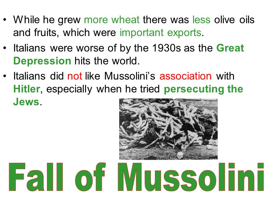 While he grew more wheat there was less olive oils and fruits, which were important exports.