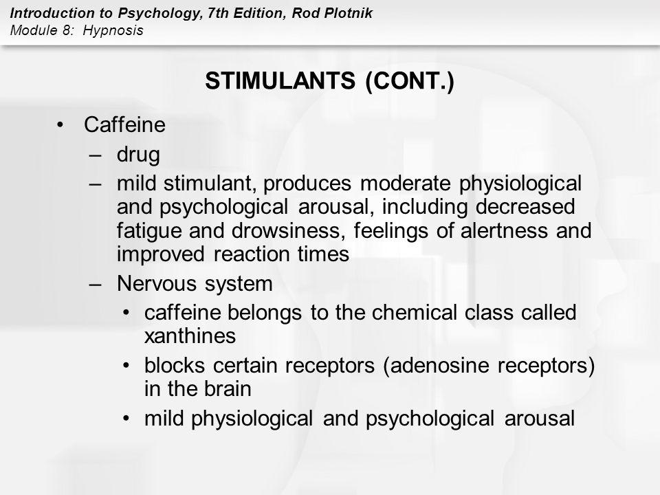 STIMULANTS (CONT.) Caffeine drug