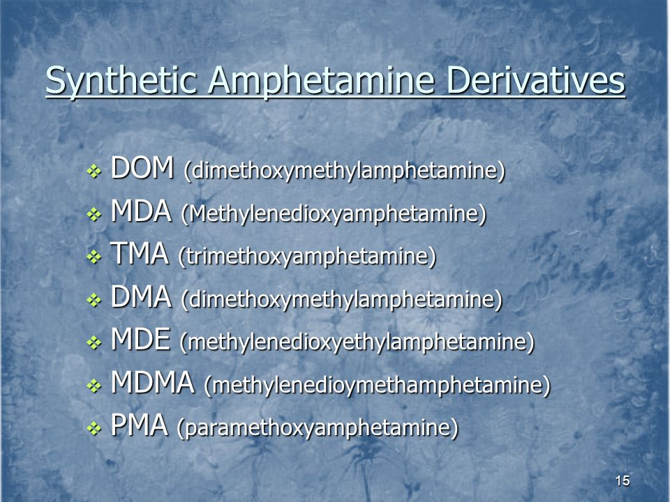 Synthetic Amphetamine Derivatives