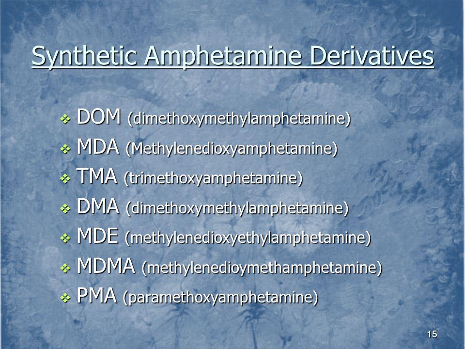 Synthetic Amphetamine Derivatives