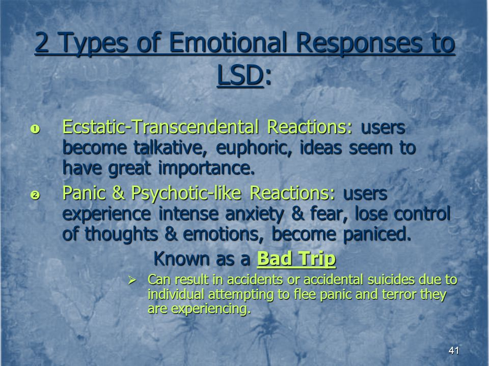 2 Types of Emotional Responses to LSD: