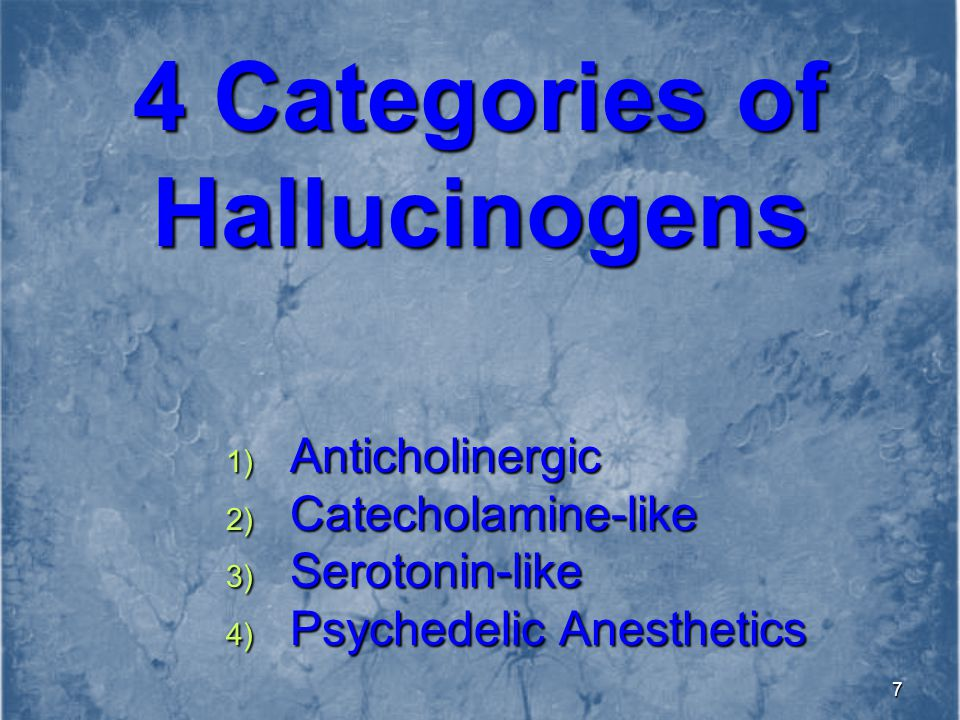 4 Categories of Hallucinogens
